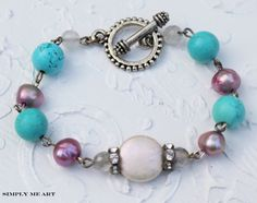 Semi Precious Stone along with fresh water pearls and sparkling rhinestone~