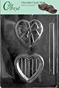 Cybrtrayd V084 Heart Pour Box with Bow Valentine Chocolate Candy Mold