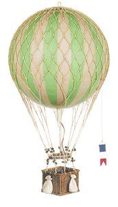 Vintage Hot Air Balloon Nursery: Green Large Hanging Hot Air Balloons Royal Aero $80
