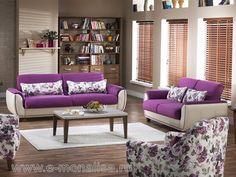 Set de Canapele si Fotolii 321 Latina  Setul este format din canapea extensibila de 3 locuri plus canapea extensibila 2 locuri plus… Latina, Lounge, Modern, Furniture, Design, Home Decor, Kitchens, Chair, Simple Lines