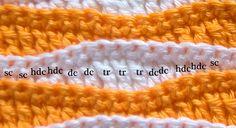 Summer Waves Stitch Pattern Free Crochet, thanks so xox
