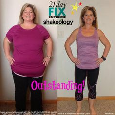 AMAZING!!! Nicole reminds us what NOT ditching your New Year's Resolution looks like! #transformationtuesday #newyearsresolution #21DFX #Shakeology