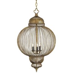 Moroccan Wire Orb Chandelier — Gold | Scenario Home  This is IT!