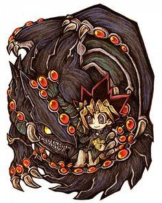 Tags: Anime, Pixiv Id 77750, Yu-Gi-Oh!, Yu-Gi-Oh! Duel Monsters, Gandora the Dragon of Destruction, Mutou Yuugi, Egyptian Necklace
