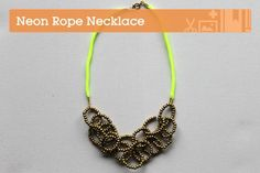DIY Wire Necklace : DIY Make a Gorgeous Neon Rope Necklace