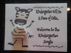 JUNGLE THEME OPEN HOUSE TREAT CERTIFICATE (ZEBRA CAKES) - TeachersPayTeachers.com