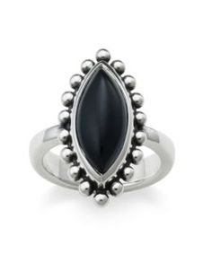 Beaded Marquis Onyx Ring: James Avery