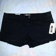 Pacsun Bullhead Glitter Frayed Black Short New with Tags! Brand new! The third picture shows the glitter feature the best. Bullhead Shorts