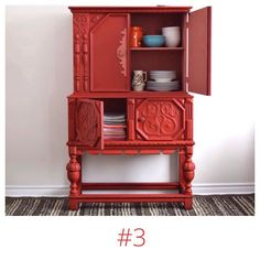 Love the red and pink combo on this hutch. Done entirely in #AnnieSloan Emperor's Silk #ChalkPaint with a hint of Scandinavian Pink this piece sits in spot #3.- #furnituredesign #furnituremakeover #redandpink #furniturewithattitude #furniturewithsoul #creativity #inspiration #freedomofexpression #boldandbeautiful
