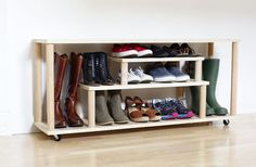DIY Shoe Rack for the Entryway or Mudroom