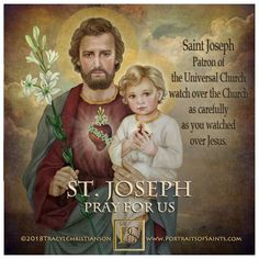 O glorious St. Joseph, through the love you bear to Jesus Christ and for the glory of His name, hear our prayers and obtain our petitions. Catholic Religion, Catholic Quotes, Catholic Prayers, Catholic Art, Catholic Saints, Religious Art, Catholic Crafts, Roman Catholic, St Joseph Prayer