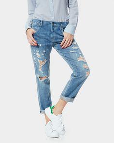 A Gold E Isabel Slim Boyfriend Jeans