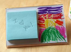 Do you know someone stuck at the office all day? Then this DIY post-it note holder would make the perfect