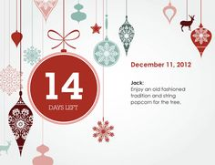 Creative Countdown makes a personalized alternative to an Advent Calendar. More Christmas designs were just posted on our site. Visit creativecountdown.com to check them out!