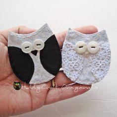 Wedding Owls, Bride and Groom Owls, Wedding Applique owl, Marriage Appliques, Owl Applique, Owls, Wedding Made to order