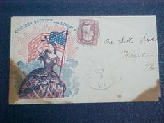 Civil War: Grand Isle, Vermont 1860s #65 Patriotic Cover, Lady Liberty