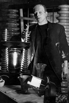 Boris Karloff in Bride of Frankenstein source: The Golden Age of Monster Movies