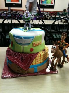 Our very first Toy Story cake!!! In the living room :)