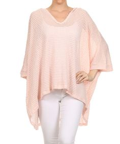 Look at this #zulilyfind! Blush Mesh Dolman Tunic - Plus #zulilyfinds