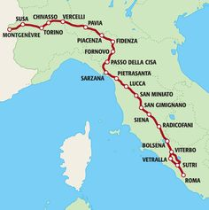 cammini in Italia - la via fracigena Travel Around The World, Around The Worlds, Safe Harbor, British American, Turin, Italy Travel, Places To Go, Road Trip, Stress