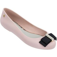Melissa Space Love Plus Jason Wu Ballet Flats ($60) ❤ liked on Polyvore featuring light pink