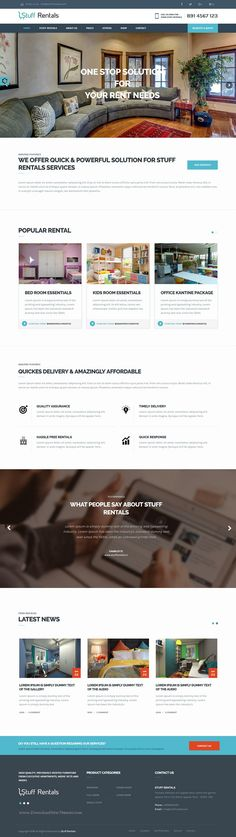 Stuff Rentals WordPress Theme has been developed to help you run an online stuff #rental #business in the most efficient and organized manner. #webdesign Download Now!