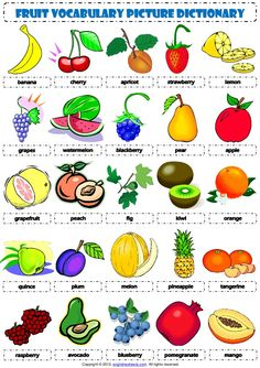 which food i am? English Resources, Education English, English Lessons, Teaching English, Vocabulary Worksheets, Worksheets For Kids, Printable Worksheets, English Vocabulary, Fruit Picture