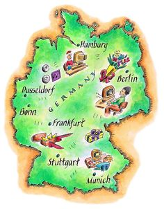 Kids Map Of Germany German ...