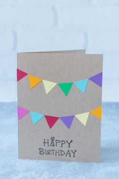 10 Simple DIY Birthday Cards Learning to make simple DIY birthday cards will keep you stocked in cute handmade birthday cards for family and friends all year long! Happy Birthday Cards Handmade, Creative Birthday Cards, Simple Birthday Cards, Homemade Birthday Cards, Birthday Cards For Boyfriend, Birthday Cards For Friends, Homemade Greeting Cards, Girl Birthday Cards, Diy Birthday Wrapping Ideas