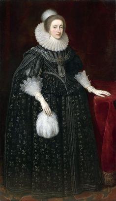 Daniel Mytens (ок. 1590-1647) Elizabeth, Queen of Bohemia (1596-1662) The Queen's Gallery (Галерея королевы), Букингемский дворец, Великобритания .