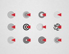 Documentary Film Center by Sergey Vasilevskiy, via Behance, logo, identity, branding, suprematism, constructivism, soviet, ussr, russian, design, minimalism, dynamic