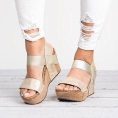 4f241824c6e Retro Open Toe Ankle Wrap Platform Women Wedge Sandals with Plus Size. Wedge  SandalsLeather SandalsShoes SandalsFlatsShoe ...