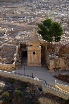 Absalom Tomb is built on the lower western foothills of Mount of Olives, facing the old city of Jerusalem, on the eastern side of Kidron valley. This entire area is a large cemetery with thousands of tombs, and this is one of the famous and largest of all. Israel