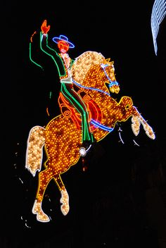 Cowboy in neon lights