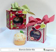 Back to School Teacher Treat Box - Scrapbook.com- DIY cupcake treat giftboxes