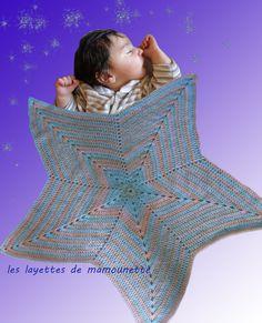 couverture bébé étoile de les layettes de mamounette sur DaWanda.com