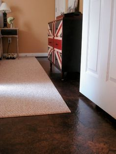 Paper Bag Flooring - Finished Floor by Lovely Crafty Home