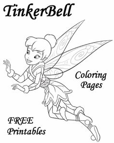 Tinkerbell coloring pages, crafts and puzzles from Tinker Bell and the Secret of the Wings! Enjoy these Tinker bell coloring pages, crafts and movie news! Tinkerbell Coloring Pages, Fairy Coloring Pages, Cool Coloring Pages, Disney Coloring Pages, Free Printable Coloring Pages, Coloring Pages For Kids, Coloring Books, Free Printables, Colouring Sheets