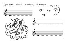 Učíme se noty znát - pracovní sešit 3 - Martin Vozár, Vlasta Pospíšilová Musical, Martini, Math Equations, Martinis