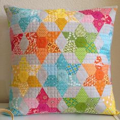 lovely little handmades - love this pillow from a pillow swap!