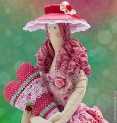Куклы Тильды ручной работы. Ярмарка Мастеров - ручная работа Тильда в розовом. Handmade.
