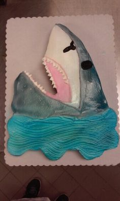 Shark cupcake cake