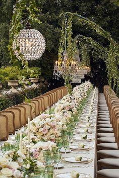 Italy wedding reception decor Wedding Reception Themes, Wedding Table Settings, Wedding Centerpieces, Wedding Decorations, Wedding Ideas, Hanging Decorations, Floral Centerpieces, Wedding Trends, Wedding Church
