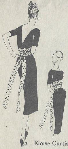 Patron Couture Vintage Années 1950 B34 1 2 Robe R882 PAR Eloise Curtis Spadea   eBay