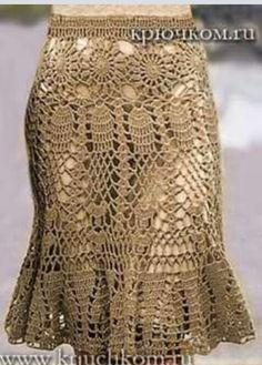Fabulous Crochet a Little Black Crochet Dress Ideas. Georgeous Crochet a Little Black Crochet Dress Ideas. Beau Crochet, Bonnet Crochet, Crochet Skirt Pattern, Crochet Skirts, Crochet Tunic, Knit Skirt, Crochet Clothes, Crochet Lace, Crochet Patterns