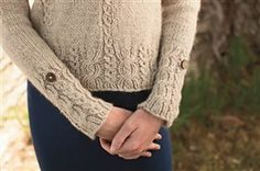 I love the cable choices for this. So pretty. But I would do a different collar.  Ravelry: Pecan Pullover by Amanda Bell