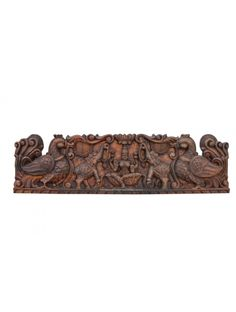 Goddess GajaLakshmi Wall floating Wood Sculpture