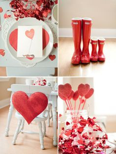 Julie Ann Art: DIY Valentine's Day Decorations - love the red hunters