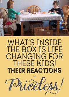 What's Inside The Box Is Life Changing For These Kids! Their Reactions... Priceless!