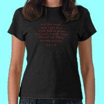Luke 1: 28 ( Hail Mary ) t-shirts by Artists4God